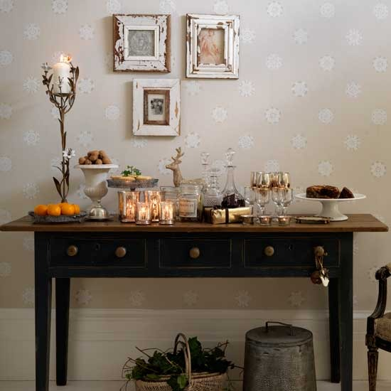Table Serve Your Guests A Buffet Style Spread From A Console Table