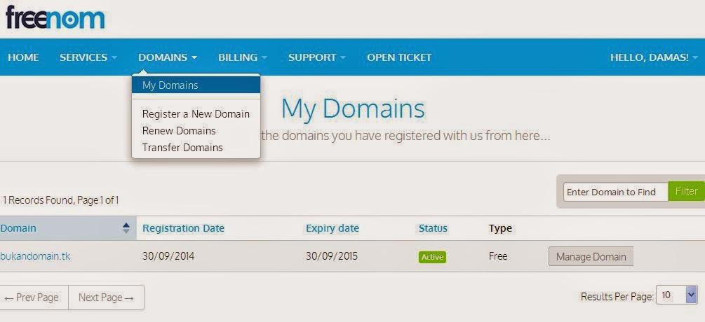 setting domain