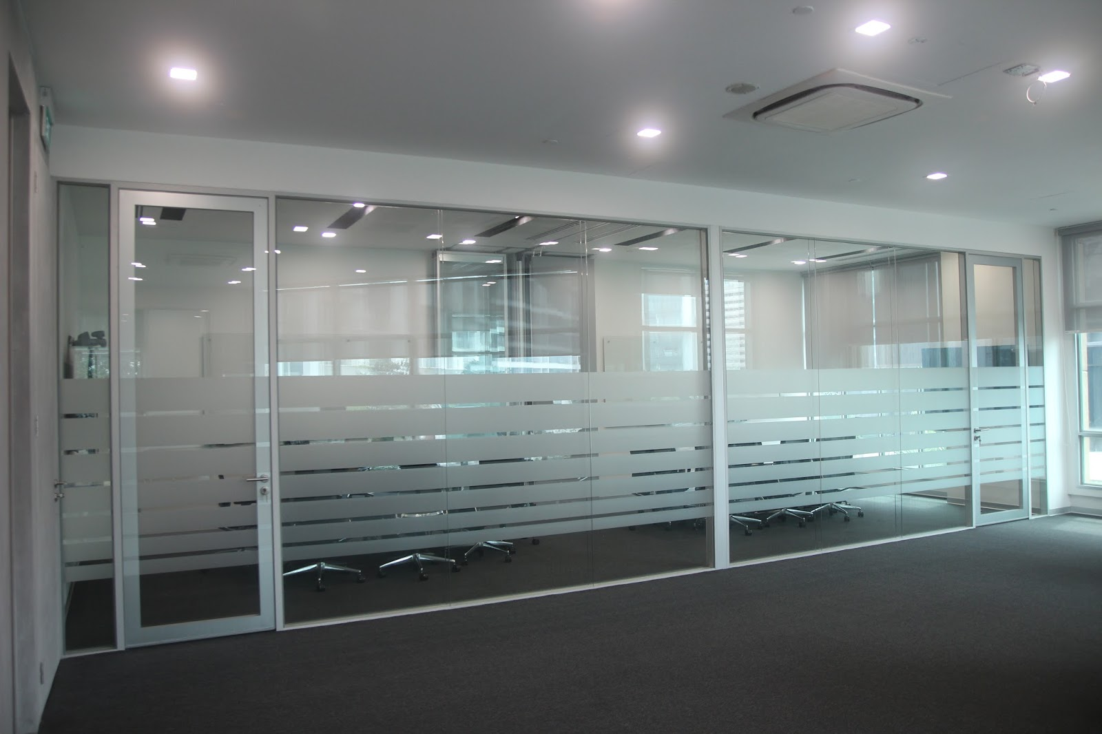 contractor office interior designers frosted glass design glass