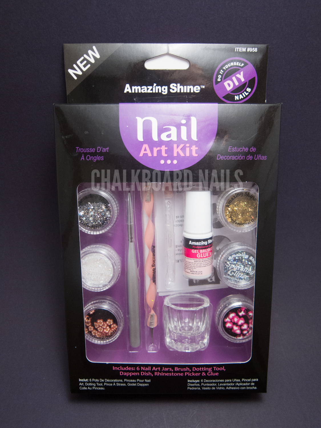 Amazing Shine Nail Art Kit Review | Chalkboard Nails | Nail Art Blog