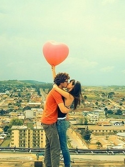 Cute Couple Hug Kiss Love