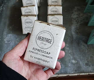 Vegan Espresso+Cinnamon soap at Heritage Bicycles General Store.