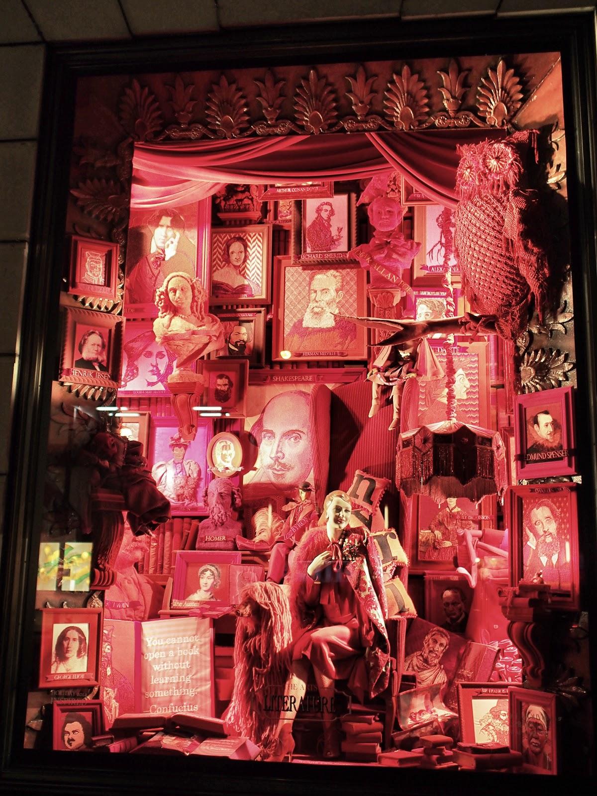 Inspired by Literature #inspiredbyliterature #bgwindows # #holidaywindows #5thavenuewindows #NYC  #holidays #besttimeoftheyear #nyc ©2014 Nancy Lundebjerg