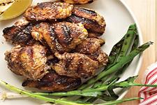 Season grilled chicken thighs with a Mediterranean spice blend called ...