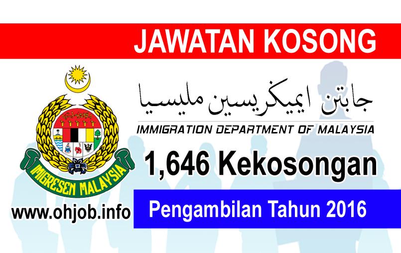 Jawatan Kerja Kosong Jabatan Imigresen Malaysia logo www.ohjob.info januari 2016