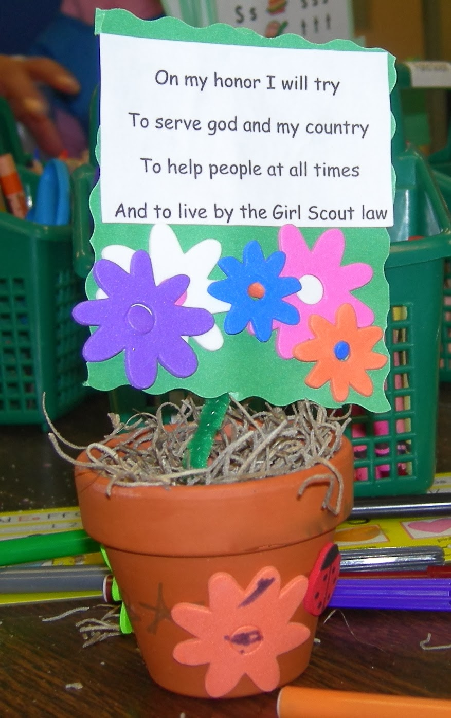 Girl scout mania girl scout promise flower pot a great and easy daisy project to reinforce the girl scout promise izmirmasajfo