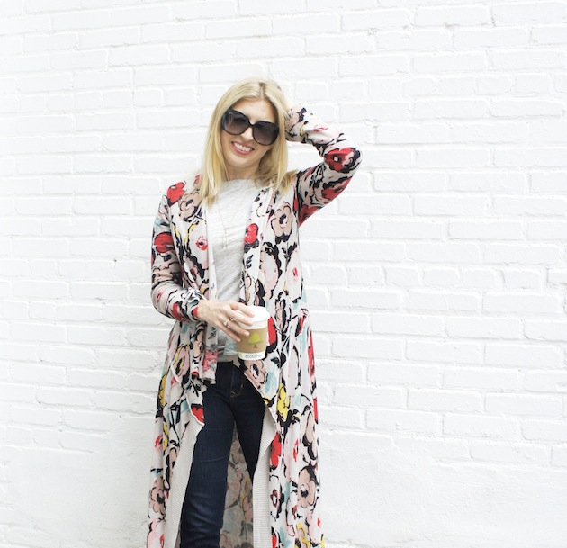 Long Floral Sweater - The Boston Fashionista