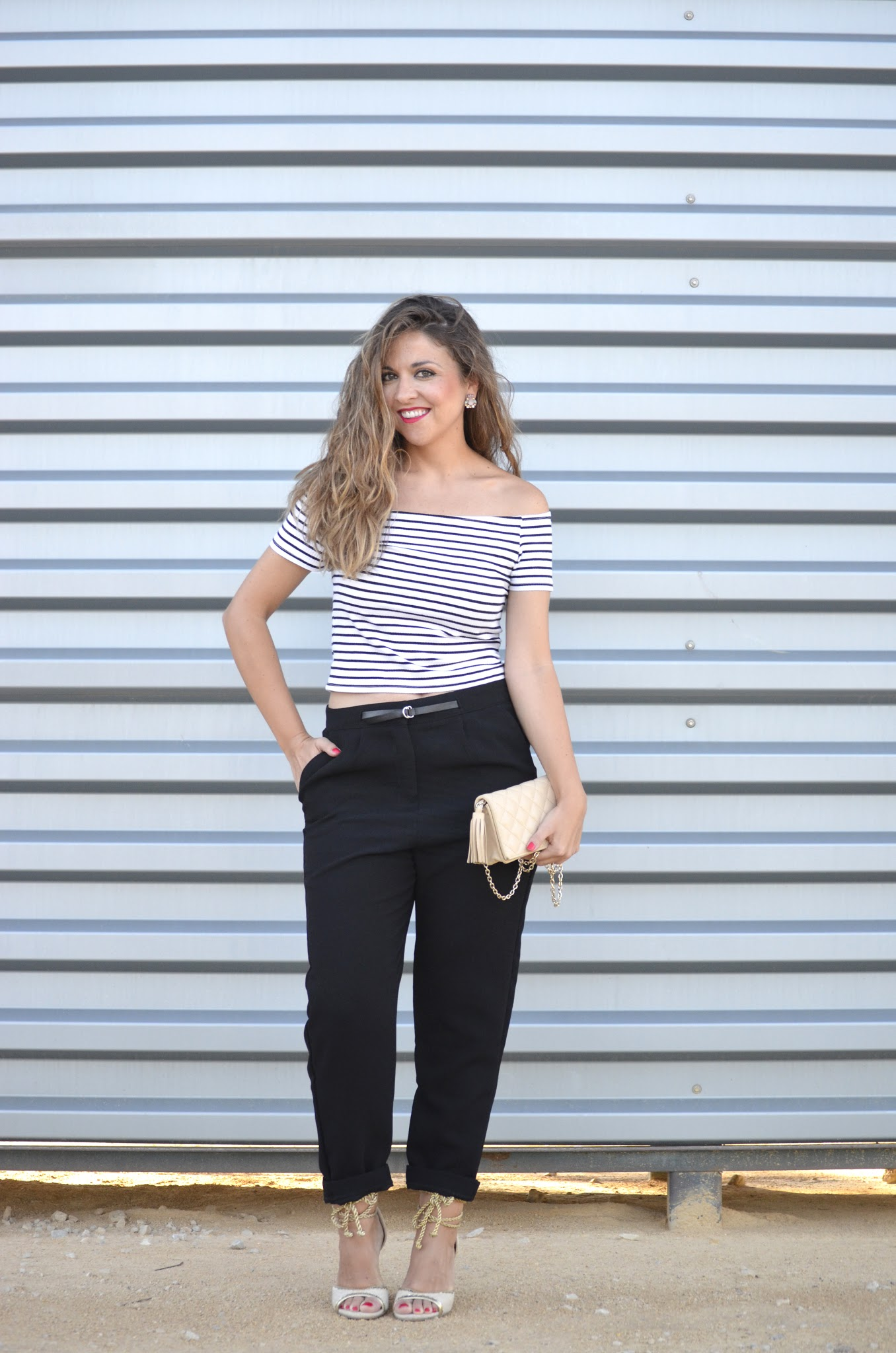 outfit con toque navy