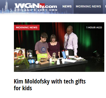 Kim Moldofsky, The Maker Mom, on WGN Morning News