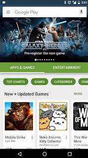 Tampilan Google Play Store 6 Terbaru