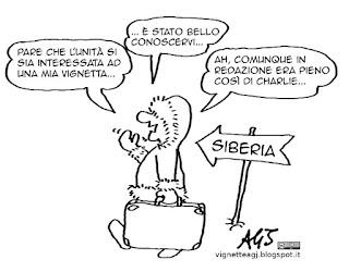 Boschi, forza italia, L'Unità, libertà di satira, vignetta satira