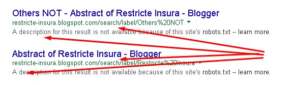 Search/label which is blocked by robots.txt