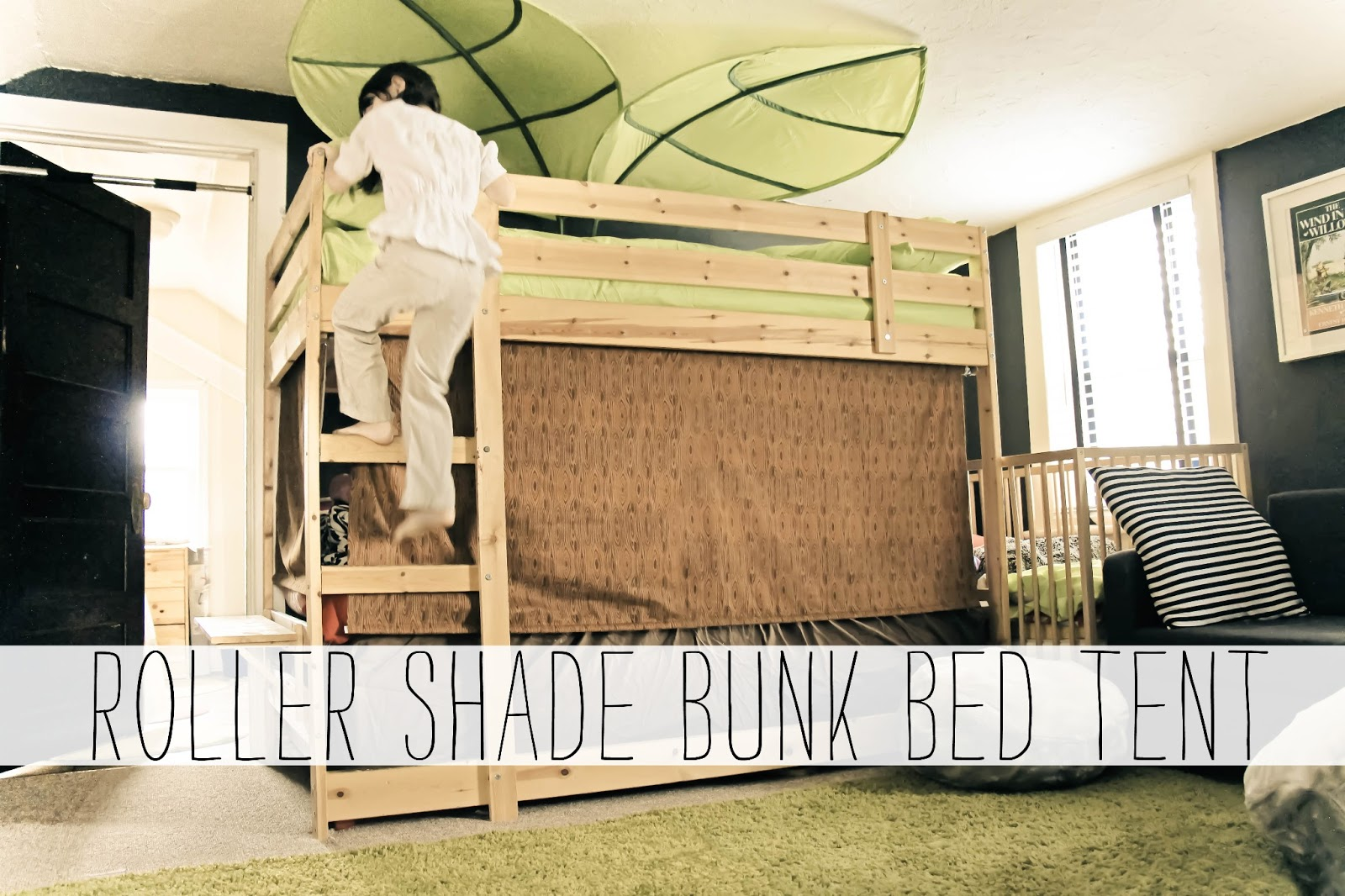 Roller Shade Bunk Bed Treehouse Tent. March 18 2013 & Grosgrain: Roller Shade Bunk Bed Treehouse Tent