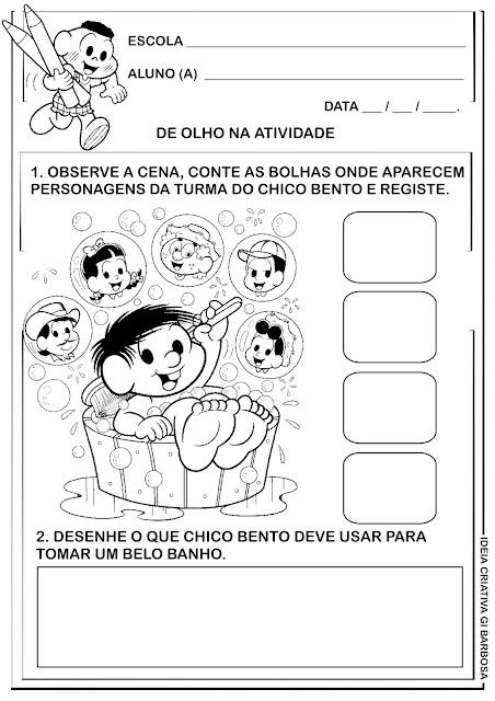 Atividade Interdisciplinar Temática Higiene Educação Infantil