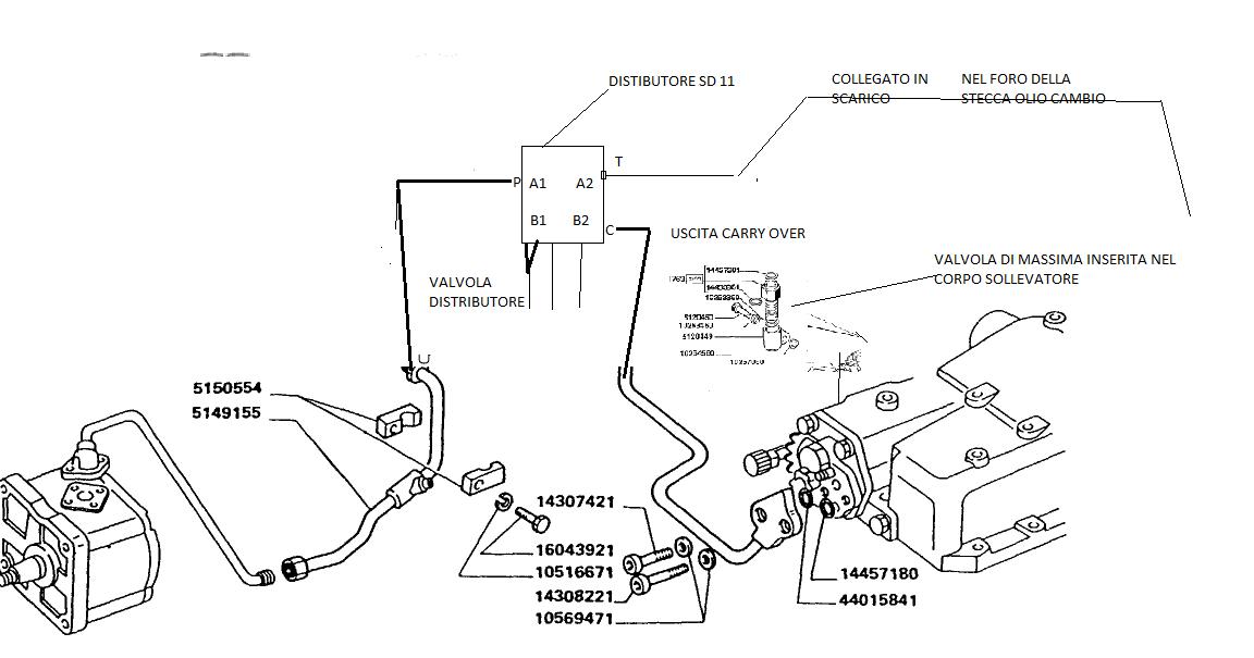 Schema Elettrico Per Trattore : Lele informa impianto idraulico fiat dt special