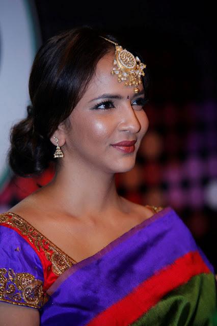 Lakshmi manch in Saree Photos at Dabur Vatika
