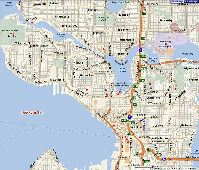 Seattle Map Free Printable Maps