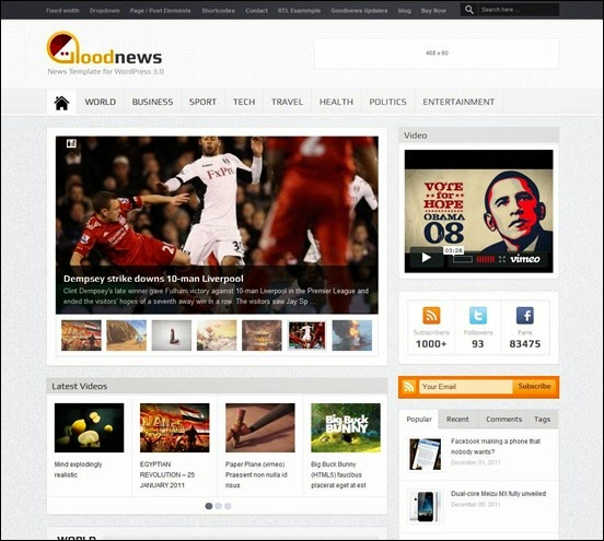 GoodNews Responsive Blogger Template
