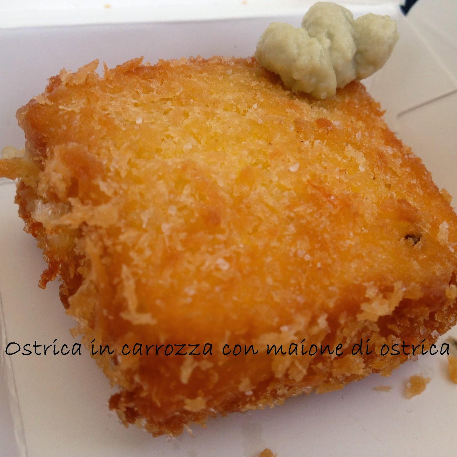 ostrica in carrozza con maione di ostrica taste of roma 2014