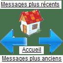 Remplacer Messages plus récents -  Messages plus anciens par des flèches