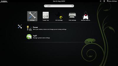 openSUSE 13.1 Milestone 4, GNOME live ISO Search