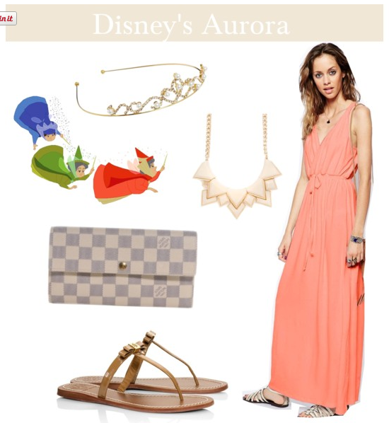 Aurora disney princess outfit