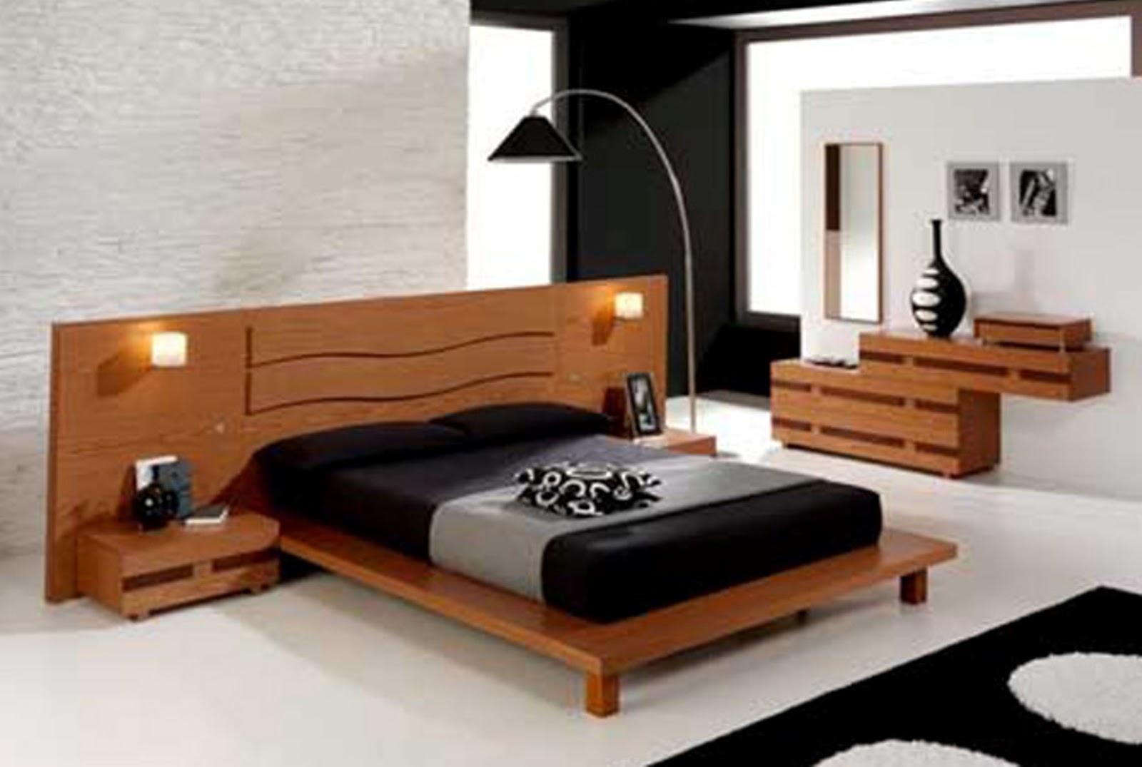 gambar contoh dekorasi kamar tidur minimalis dengan desain modern title=