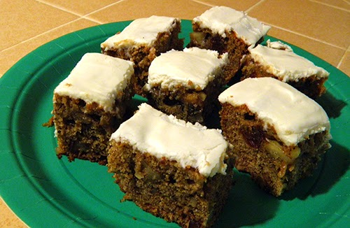 Plate of Frosted Persimmon Date Bars