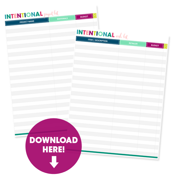 IHeart Organizing Free Printables – Wish List Templates