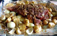 Chinese lamb leg with potatos