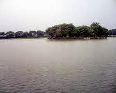 Lokasi Wisata Danau Tasikardi  danau buatan di Desa Margasana