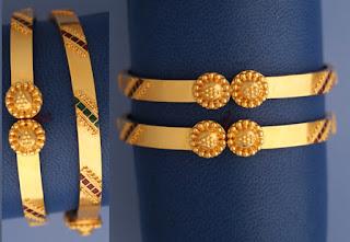 22k Gold Enamel bangles