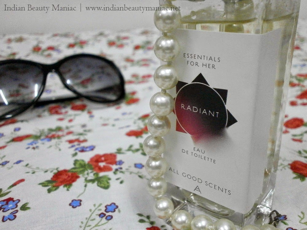 Radiance from all good scents, Eau De Toilette, Fragrance, Every day fragrance, EDT, Indian Beauty Blogger