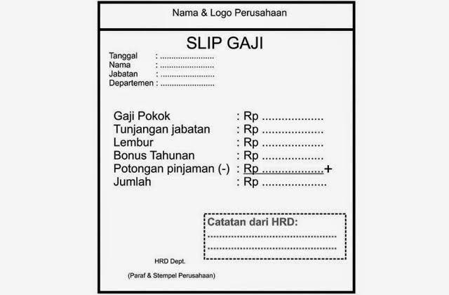 Contoh Slip Gaji Karyawan