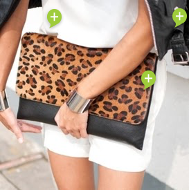 Statement Leopard Print Clutch