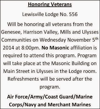 11-5 Lewisville Lodge Honoring Veterans