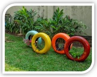 decorar el jardin con llantas como decorar el jardin con llantas como poner las