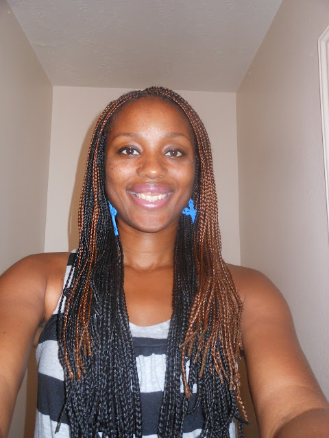 ... sister in Christ did an excellent job with these box braids that took