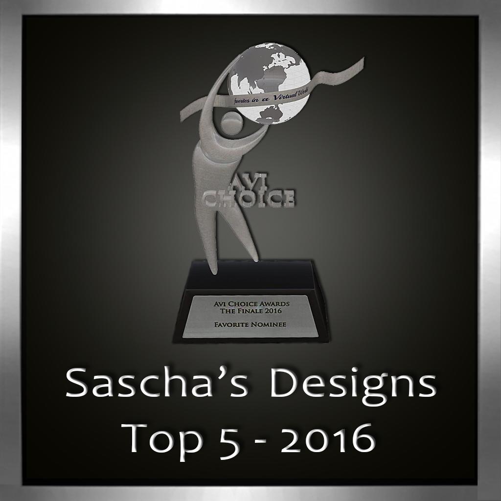 Sascha's Designs Avi Choice 2016
