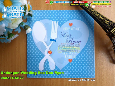 Undangan Wedding Esa Dan Ryan