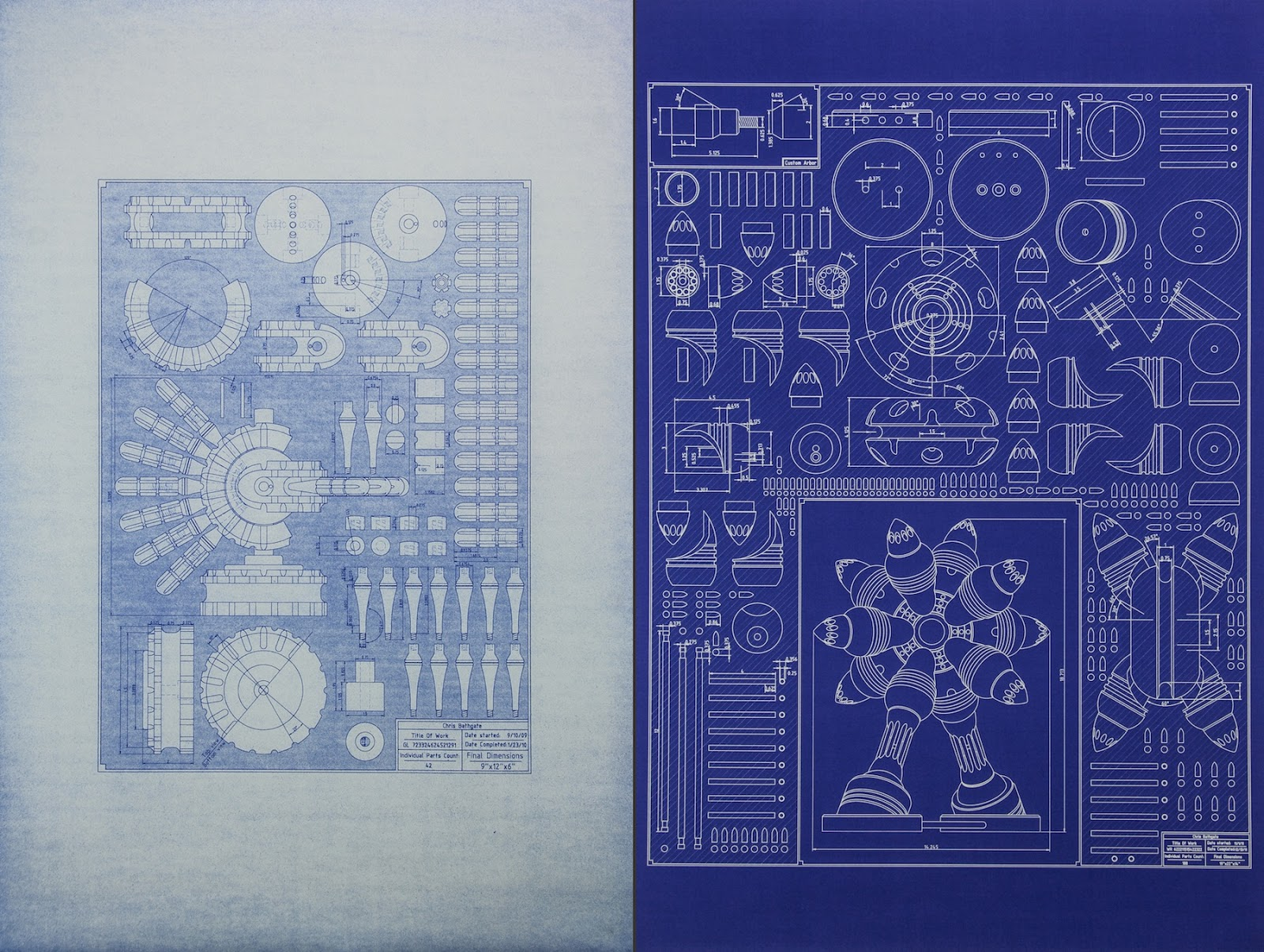 My sculpture blog blueprint drawings while the other half are inverse blueprints i think both types are a beautiful and a very genuine way to realize these drawings in a physical form malvernweather