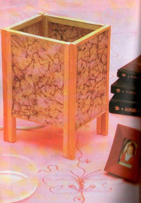 Como hacer una lampara de mesa mimundomanual - Como construir una mesa ...