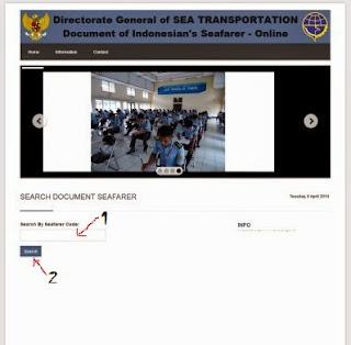 Pelaut.dephub.go.id Check Seafarer Certificate
