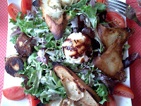 the BEST goat cheese salad I've ever had