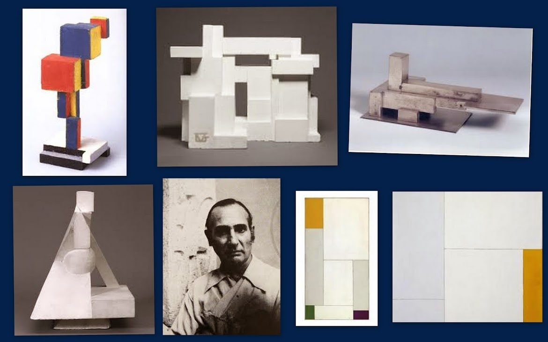 O artista belga Georges Vantongerloo (1886-1965).