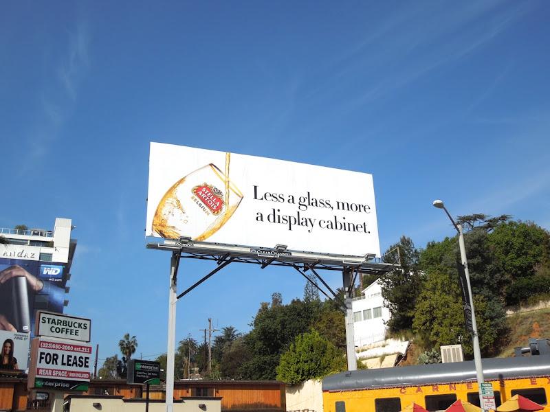 Stella Artois display cabinet billboard