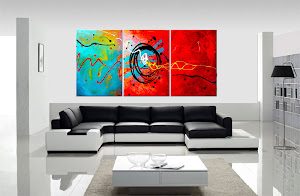 "ORIGINAL ABSTRACT PAINTING ""CHEMISTRY"" ONLY $250"