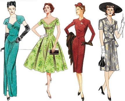 P4 Vintage Vogue Sewing Patterns