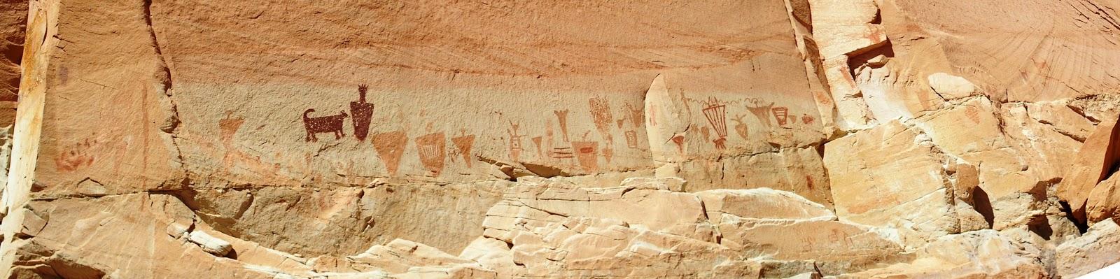 Utah Pictographs, Petroglyphs and Rock Art: Horseshoe Canyon
