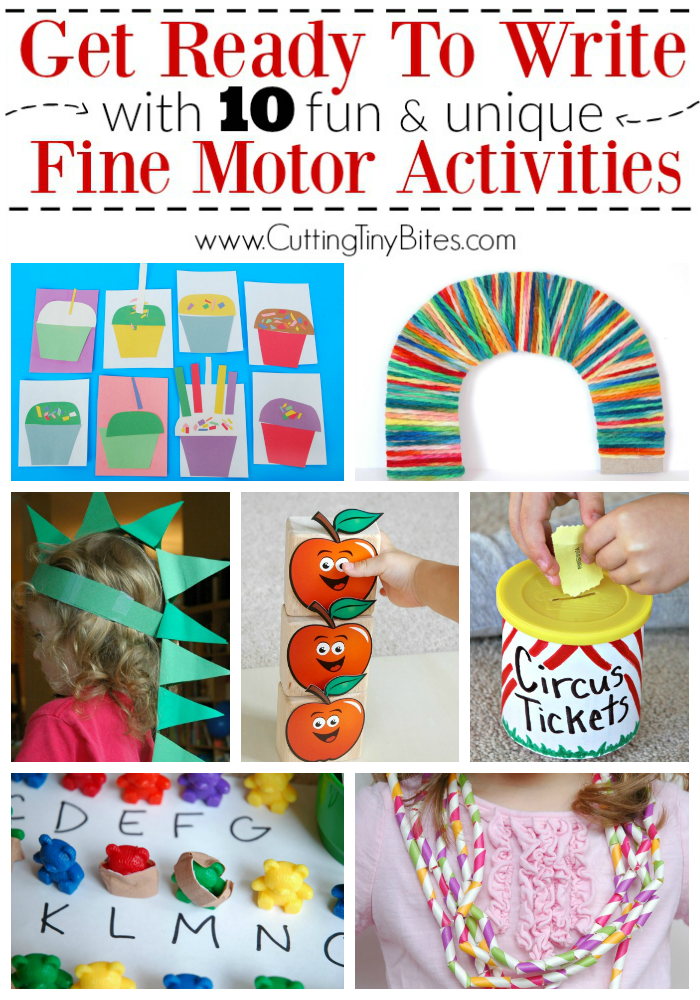 10 fine motor activities that get kids ready to write for Fine motor activities for kindergarten
